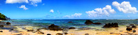 A panorama of the Pacific Ocean on Kauai