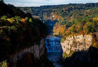 Letchworth State Park Waterfall and Nature Finger Lakes Long Exposure Photography by Chris Walters
