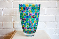 Photograph of Hand Painted Glass Vase by JoAnn Smith