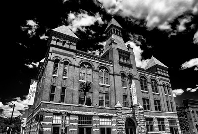 The Rockwell Museum of Western Art in Corning, NY in Black and White