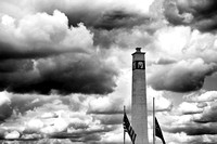Little Joe Tower in Black and White in Corning, NY