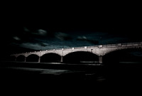 Corning's Gaffer District and Finger Lakes Centerway Bridge in Winter Chris Walters Photography